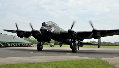 Lancaster Bomber Just Jane Taxi-run